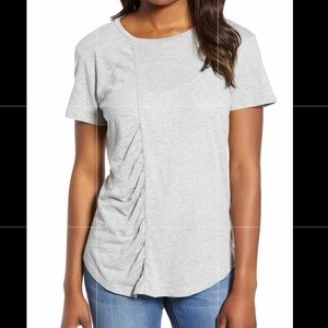 Caslon Gathered Front Crew Top